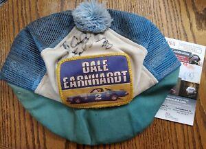RARE Vintage Autographed Dale Earnhardt Sr Hat Cap JSA COA Nascar #2 Car PATCH
