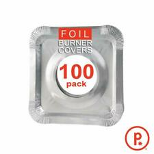 Aluminum Foil Square Stove Burner Covers - Disposable Bib Liners for Kitchen