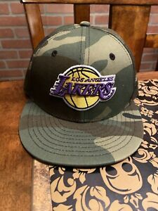 Youth Camo Los Angeles Lakers New Era 9Fifty Kids LA Snapback Hat Camouflage