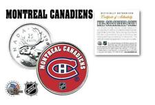 MONTREAL CANADIENS NHL HOCKEY CANADA QUARTER COIN! COA & STAND!