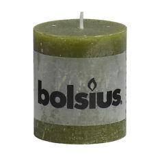6 Bolsius Rustik Stumpen Kerzen 80x68 mm oliv Bolsius Rustic Kerzen 1. Wahl