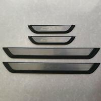 4PCS Door Sill Scuff Plate Guards Protectors Fit For Mazda CX-3 CX3 DK 2015-2019