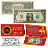 STAR NOTE 2019 CNY Year of the PIG Lucky Money U.S. $1 Bill w/ Red Folder S/N 88