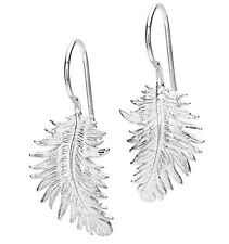 DOWER & HALL 925 Sterling Silver Feather Earrings BNIB