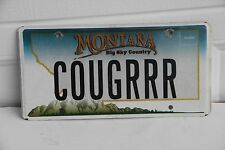 Montana License Plate personalized COUGRRR.  2006 series