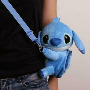 Disney Lilo Stitch Crossbody Bag Plush Hand Messenger Toy Purse Phone Bag Gift