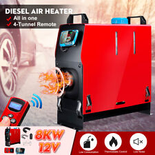All IN ONE 8000W 12V Car Diesel Air Heater For Caravan Motorhome RV Boat Red
