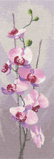 HERITAGE CRAFTS COUNTED CROSS STITCH KIT ORCHID FLOWERS 27ct  JOBN CLAYTON   NEW