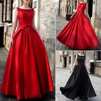 Wedding Women Bridesmaid Gown Cocktail Formal Dress Long Evening Party Ball Prom
