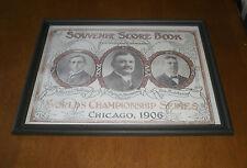 1906 CHICAGO WHITE STOCKINGS FRAMED WORLD SERIES SCORE BOOK PRINT