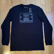 Under Armour Long Sleeve Black T Shirt Mens Medium Brand New With Tags