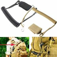 Tactical Pistol Lanyard Sling Elastisches, verstellbares Seil