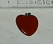 Herz Jaspis rot Anhänger Heilsteine geschliffen superFarbe