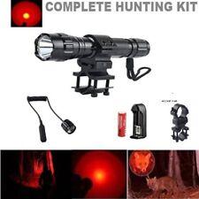 Red Led Hunting Light Kit 500+ yards Coyote Varmint Hog Night Hunt 350 Lumen New