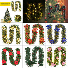 Christmas Garland LED Colorful 2.7M Fireplaces Stairs Decorated Garlands Decor