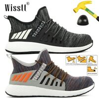 Men Women Steel Toe Casual Breathable Shoe Sport Walking Athletic Sneaker Tennis