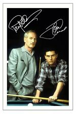 PAUL NEWMAN & TOM CRUISE AUTOGRAPH SIGNED PHOTO PRINT THE COLOR OF MONEY