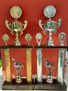 Säulenpokal Pokal Pokale Schützen Schießen Gewehr Wanderpokal gold/silber