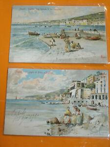 Lotto Due Cartoline Napoli, Foprmato piccolo - Viaggiate, Anno 1924
