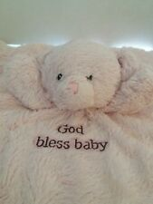Gund Baby pink bear lovey security blanket