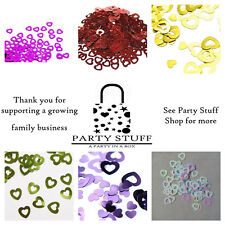 Hollow Hearts 14g Foil Confetti Table Scatter Wedding Decorations 6 Colors