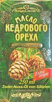 Zeder-Nuss-Öl, Kaltgepresst, Herkunft Altai Sibirien. 250 ml
