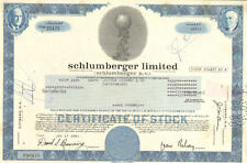 Schlumberger Limited > Netherlands Antilles oil gas share stock certificate