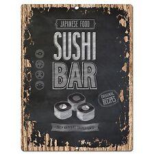 PP0569 Sushi Bar Plate Chic Sign Store Shop Cafe Home Kitchen Sushi Bar Decor