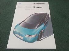 1986 VW Scooter concepto coche inglés/alemán/francés 12 página folleto Polo Golf