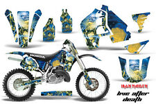 Honda CR500 With # Plate Graphics Kit Dirt Bike Wrap MX Decals 1989-2001 IM LAD