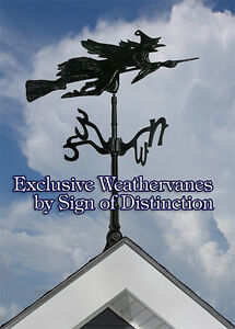 Whitehall Flying Witch Rooftop Weathervane Includes Mount