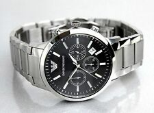 Emporio Armani AR-2434, Black Dial Men's Chronograph Watch