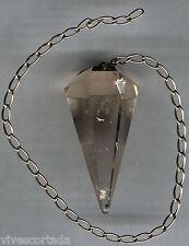 Pendulo Cuarzo Citrino natural o cristal de roca @@ BELLISIMO @@