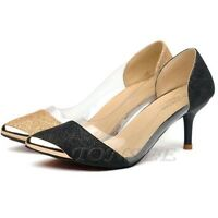 Fashion Women's Casual Pointed Toe Pumps High Party Prom Pumps Court Shoes