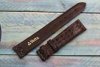 Vetta Strap Vintage Strap Cinturino Vero Coccodrillo Marrone Scuro 16mm Elegante