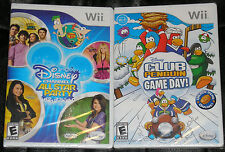 Nintendo Wii Game Lot - Disney Channel All Star Party (New) Disney Club Penguin