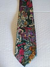 Hardy Amies Savile Row London All Silk Designer Necktie Floral Tie