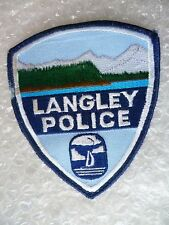 Patch- Langley WA US Police Patch (NEW, apx. 112x100 mm)