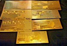 <20 PC. LOT>GOLD BANKNOTES 7-EURO/7 U.S AND 3 SILVER/2COINS/1JADE°Free S&H!