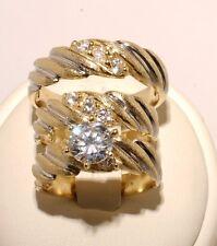 Gold  Trio Bridal Ring Wedding & Engegement Ladies & Men Set Brand New