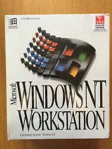 RARE! Microsoft Windows NT Workstation 3.50, Factory Sealed NIB