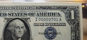 Fr.1620 $1 1957 A Silver Certificate Low Serial Number I00000701A  PMG 65 EPQ !!