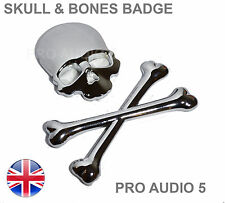 Crâne & Cross Os badge voiture Chrome-boot corps-VOITURE FOURGON 4X4 Pirate-UK