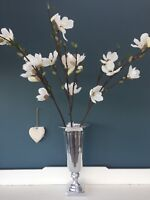 3 x Branches of Artificial Cream Magnolias 15 Flower Heads / 9 Buds Faux Silk
