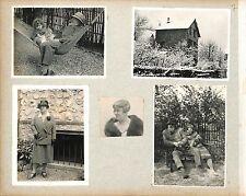 FAMILLE POUSSETTE ENFANTS  PHOTOS COLLÉES  1920 20s