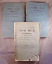 DREUX-DURADIER / HISTOIRE LITTERAIRE DU POITOU / 1842 ROBIN et Cie