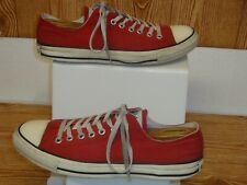 Vintage Converse All Stars Red Low Top Unisex Basketball Shoes Size 10 Men's/12