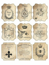 Vintage Image Shabby Grunge Paris Romantic Labels Waterside Decals Lab410