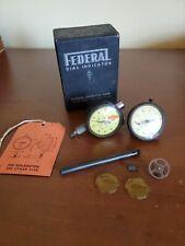 Lot Of 2 Vintage Federal Dial Indicator Gauges Model B7 And 001 Vbi Orig Box