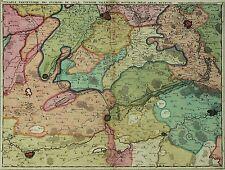 FRANKREICH Artois - Fricx - kolorierte Karte Kupferstich 1708